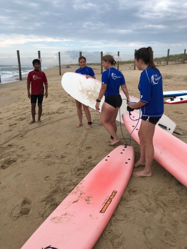 Wave Crashers headed out to surf
